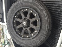 "Wheels and tires , Other, XD series addict 18"" wheels. 18x9 with 18 offset. Mounted with Bridgestone dueler a/t revo 2. 275 65 18 with 90% life. Off of 2013 Toyota Tundra."