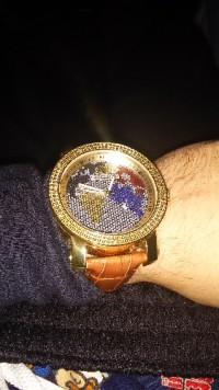 Sell or buy a used luxurman world globe watche luxurman world globe watche luxury watch luxurman world map diamond mens watch mens gumiabroncs Image collections
