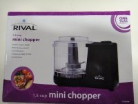 RIVAL MINI CHOPPER1.5 CUP-STAINLESS STEEL BLADES-PULSE FUNCTION , Electronics, rival, 
