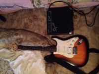 Fender guitar and fender amp, Musical Instruments, Equipment, Fender Bullet Strat Sunburst and Amp