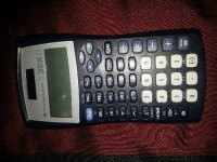 Scientific calculator , Electronics, Texas Instrument TI-30XIS, Gray solar and battery powered  scientific calculator,  with double row display  and slim sleek  width