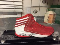 Andre Drummond signed shoe in commemorative case, Other, This is a brand new Adidas shoe, the kind worn by Detroit Piston Andre Drummond when he plays. It is autographed by him, and comes in a beautiful case with a stand. (It's a size 18 shoe, which is what he wears!)