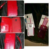 galaxy s5 phone cases, Electronics, Technology 21, Incipio, Navor, Tech21 Impactology pink case in box and practically brand new. Incipio credit card case pink/white in box used. Navor red leather wallet case 4 pockets and room for case. Comes with a wrist strap and gently used