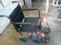 "19"" Rollabout Full-Folding Wheelchair w/foot rests., Other, Medical hospital wheelchair. Up to 250lbs. Model # P5217-19BU"