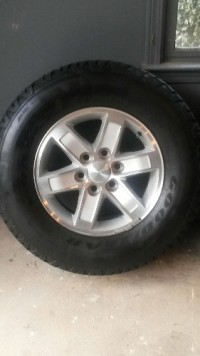 "Set of 4 Goodyear 17"" Tires and Alloy Wheels with 8,000 miles., Other, 4 Goodyear 17"" Tires with Alloy Wheels. Approximately 8,000 miles on tires. Tires and wheels were removed from a GMC Sierra Truck. Gently used condition."