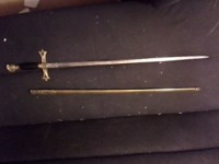 "late 19th century jr pettis sword, Other, jr pettis co troy ny sword 42"" with sheeth"