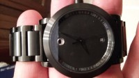 movado watch , Luxury Watch, movado 7.1.36.1202, Brand new movado watch all black w the inscription sapphire crystal on back side