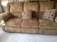 Couches, Other, Furniture, Still has tags on it, Barely used. New Condition 2pc set one piece has a pull down attachment with a cup holder area