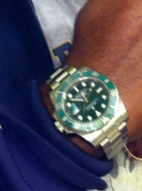 Rolex , Luxury Watch, Rolex Oyster , Silver and green 2012 model