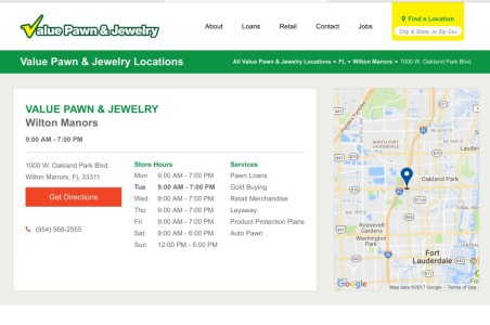 Value Pawn and Jewelry in Wilton Manors – PawnGuru