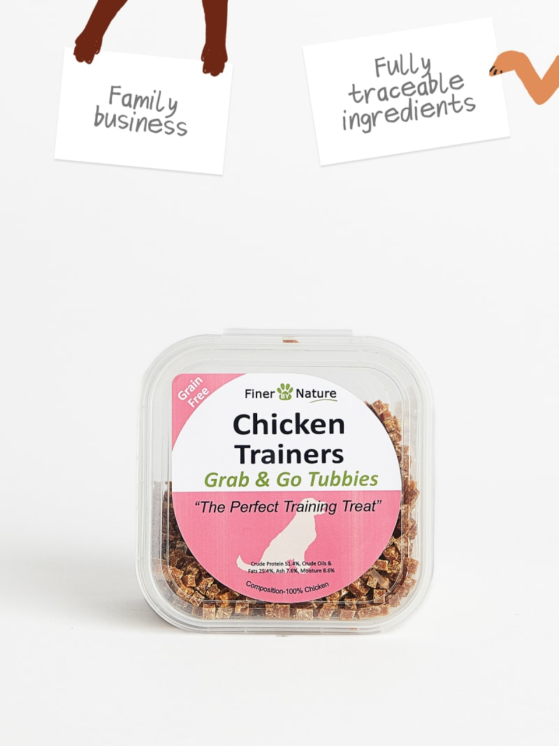 Finer By Nature Chicken Meat Trainer Treats (100g)