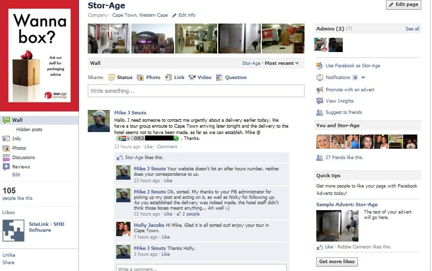 Stor-Age - Facebook To The Rescue!