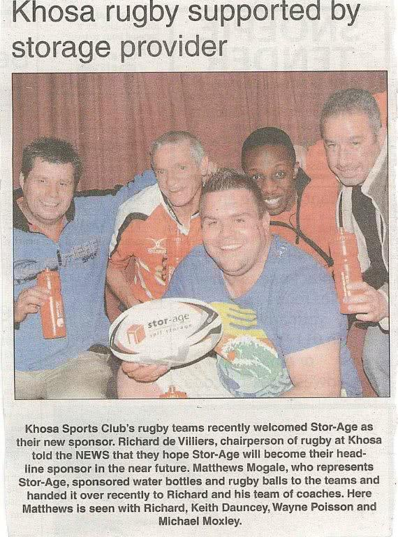 Khosa Rugby Supported By Stor-Age