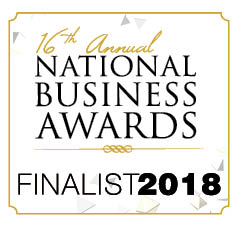 National Business Awards 2018 finalist in 2 categories