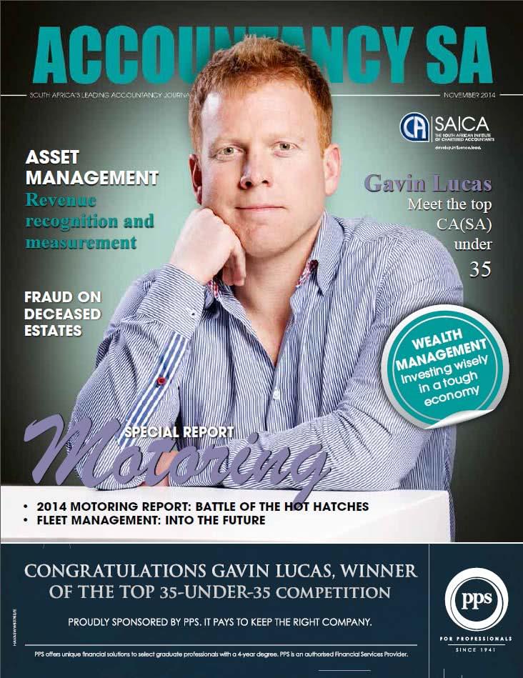 Accountancy SA cover - Top 35 Under 35 winner Gavin Lucas