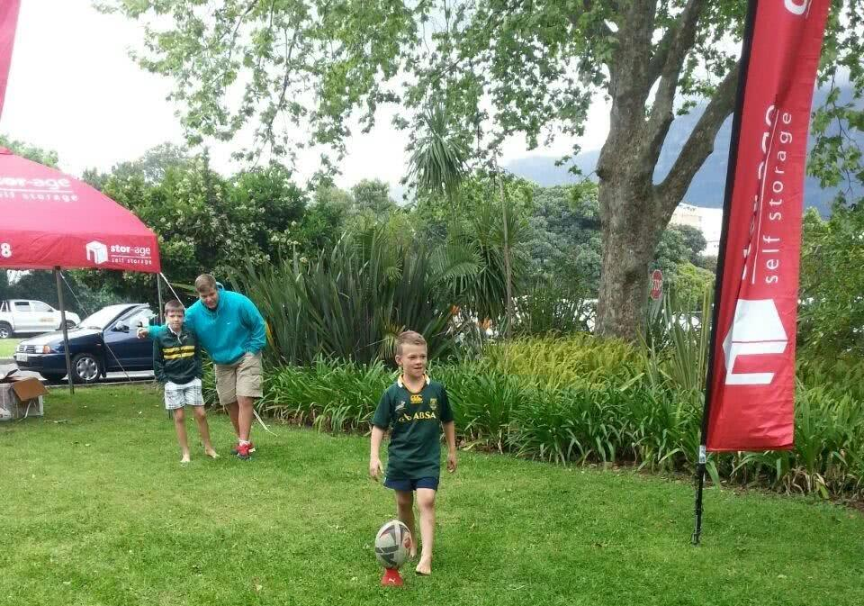 Newlands - junior Bok supporter at Stor-Age activation