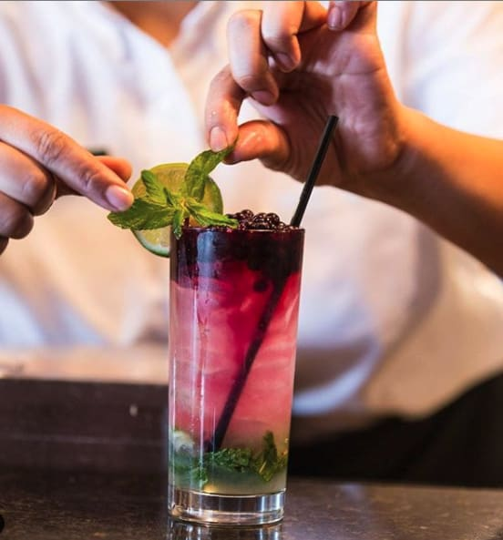 Royal Street Cafe Blueberry Mojito