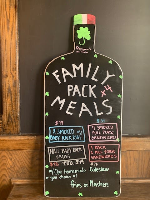 Flanagan's Family Pack Meals