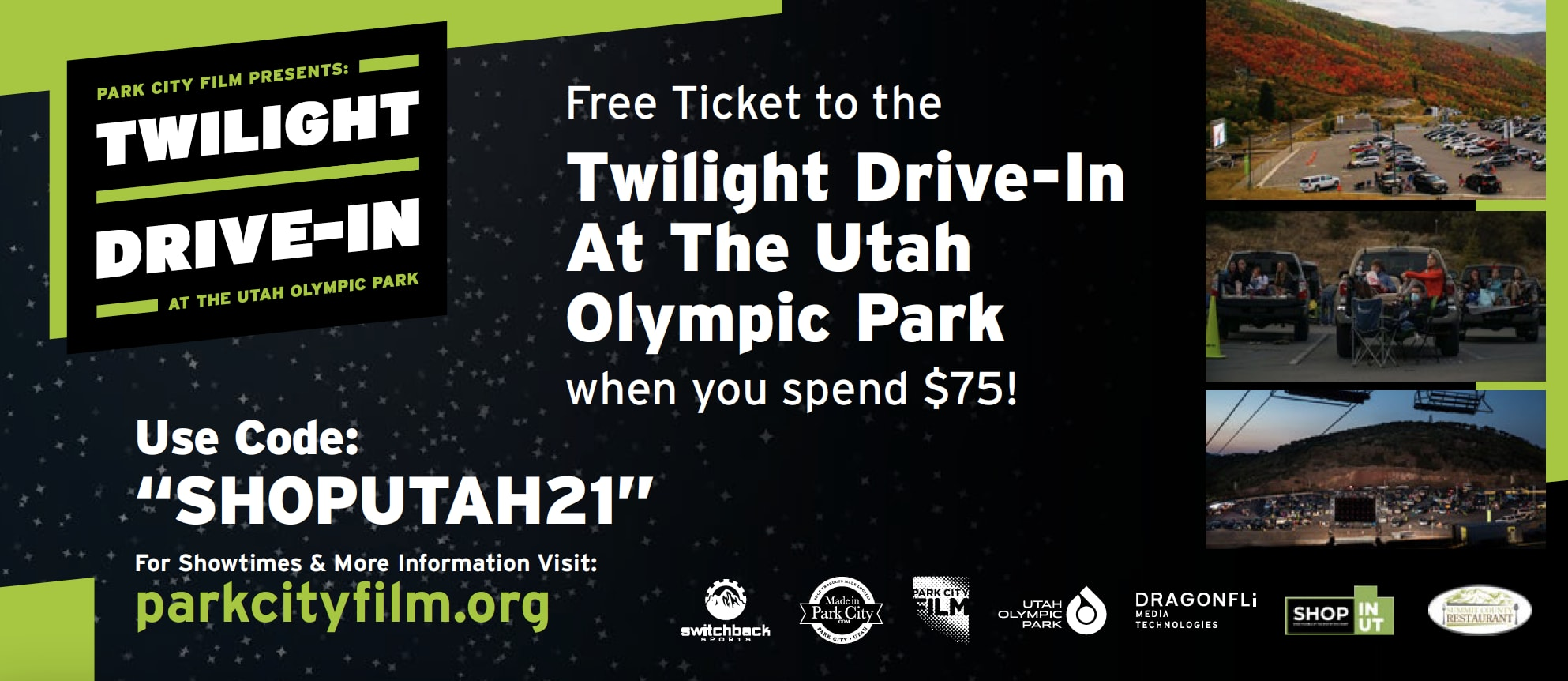 Twilight Drive-in at the Utah Olympic Park: Dazed and Confused Image