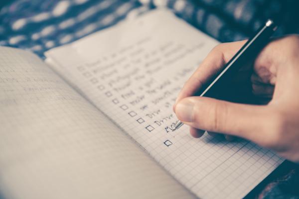 réussir avec succès : liste de tâches