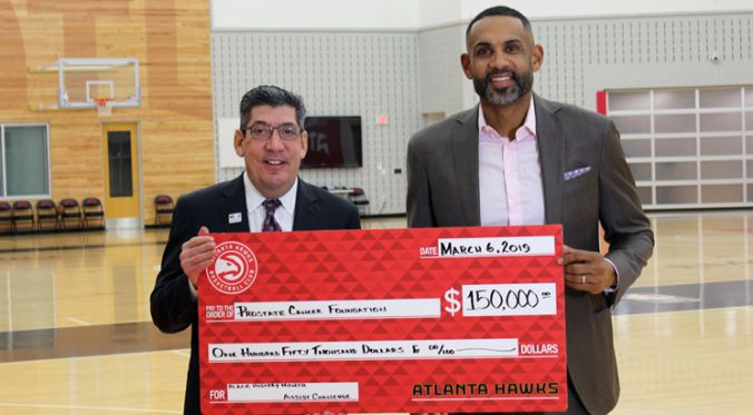Atlanta Hawks' Raises Awareness And $150,000 For Prostate Cancer Research