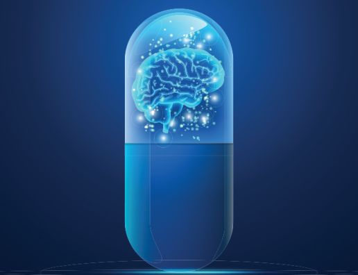 Pill with a brain inside