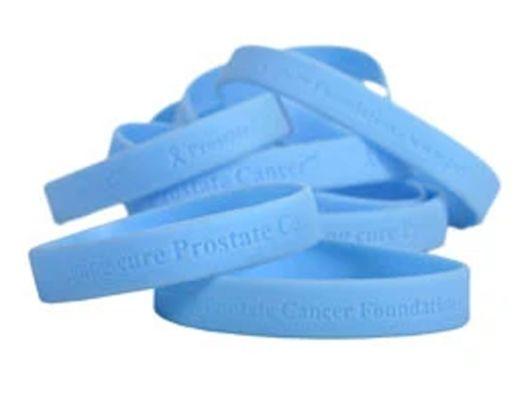 Blue Prostate Cancer Awareness Wristbands