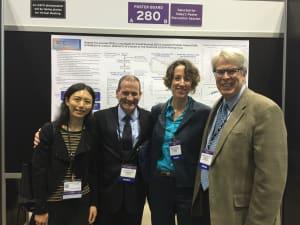 ICECaP Working Group members Wanling Xie, Christopher Sweeney, Meredith Regan, and Howard Soule at the 2016 ASCO Annual Meeting.