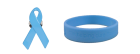 Get a free blue ribbon pin or wristband