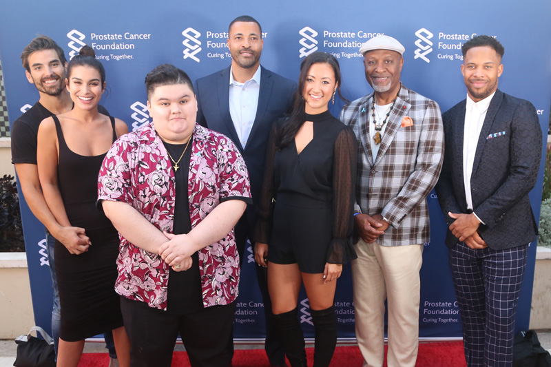 Group Photo Left to right: Jared Haibon, Ashley Iaconetti-Haibon, Jovan Armand, Timon Kyle Durrett, Sydney Lotuaco, James Pickens Jr., and Wills Reid