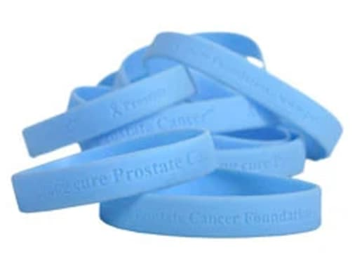 Blue Prostate Cancer Awareness Wristbands
