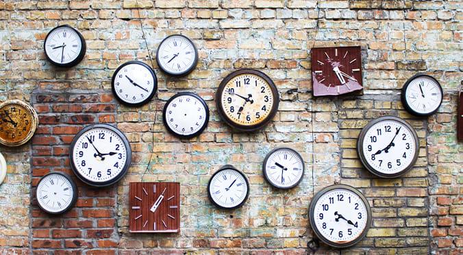 clocks on a wall