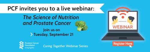 The Science of Nutrition and Prostate Cancer webinar