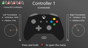 Тест геймпада - Game Controller Tester от Microsoft Store