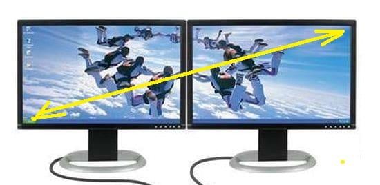 Настройка мыши при работе на 2 монитора