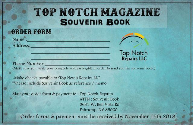 Top Notch Magazine Souvenir Book 2018 Form Small Image