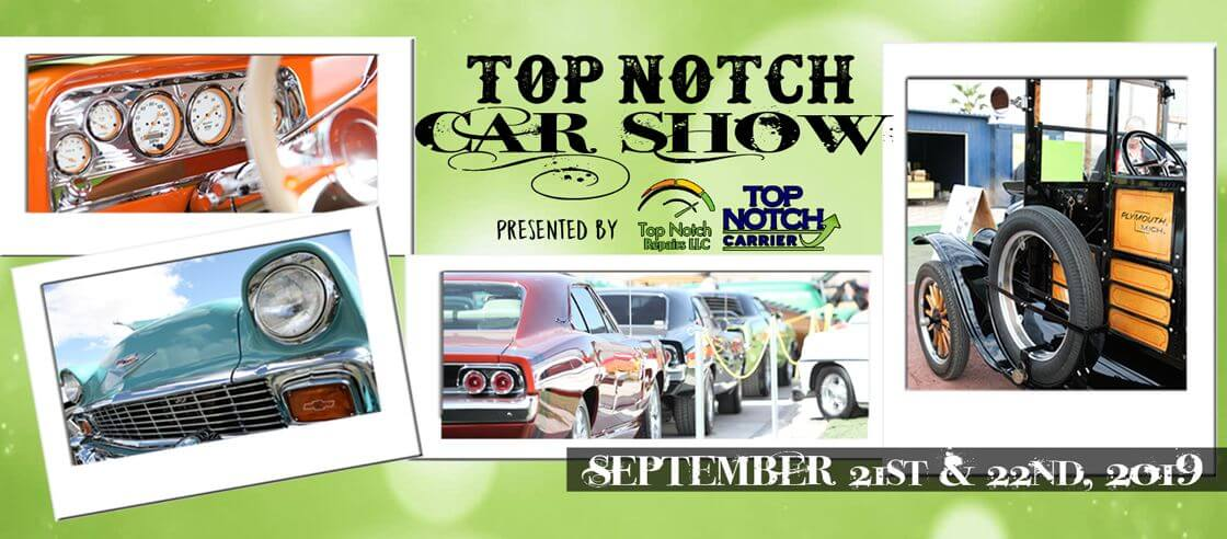 Top Notch Car Show 2019 Header