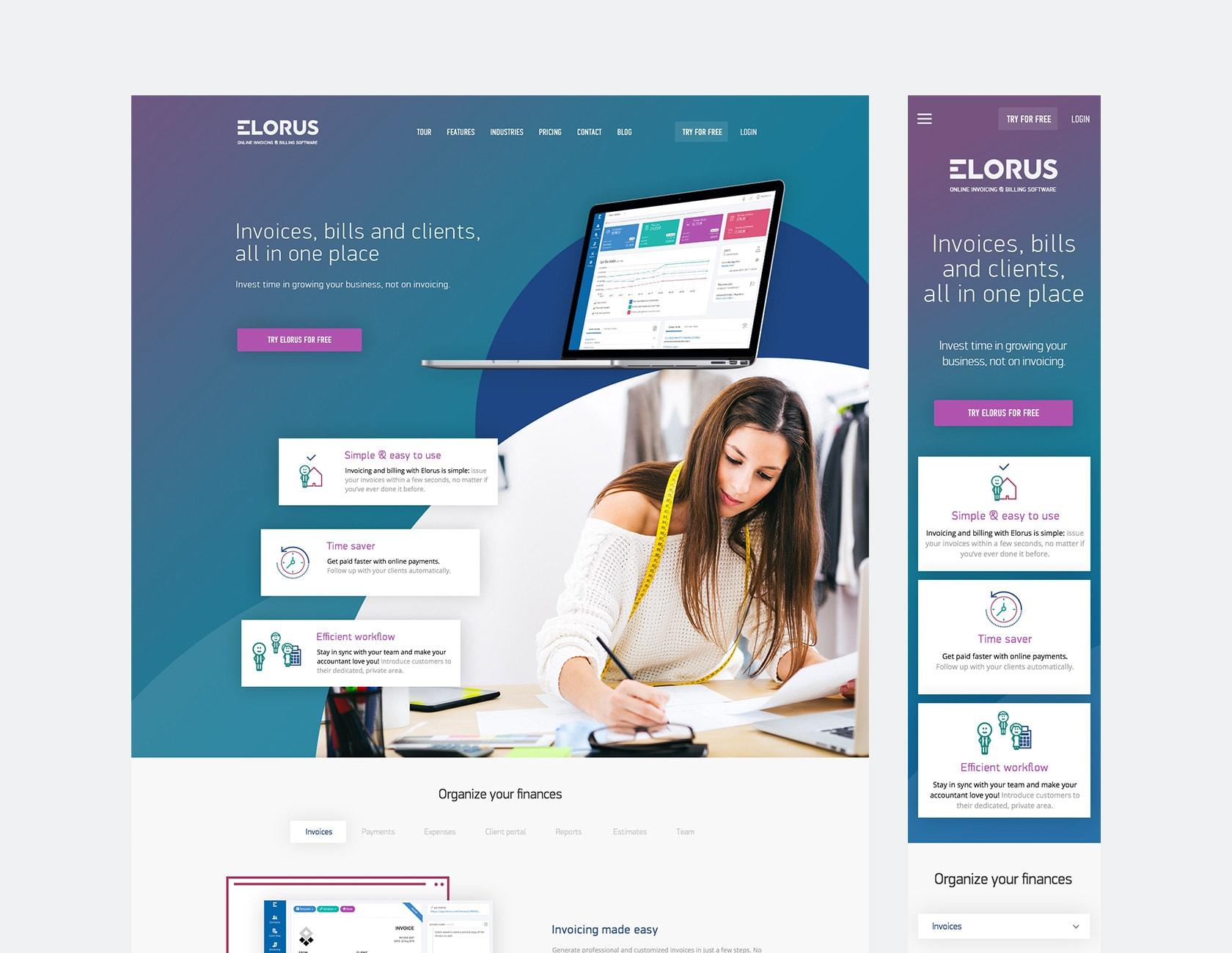 Elorus responsive design