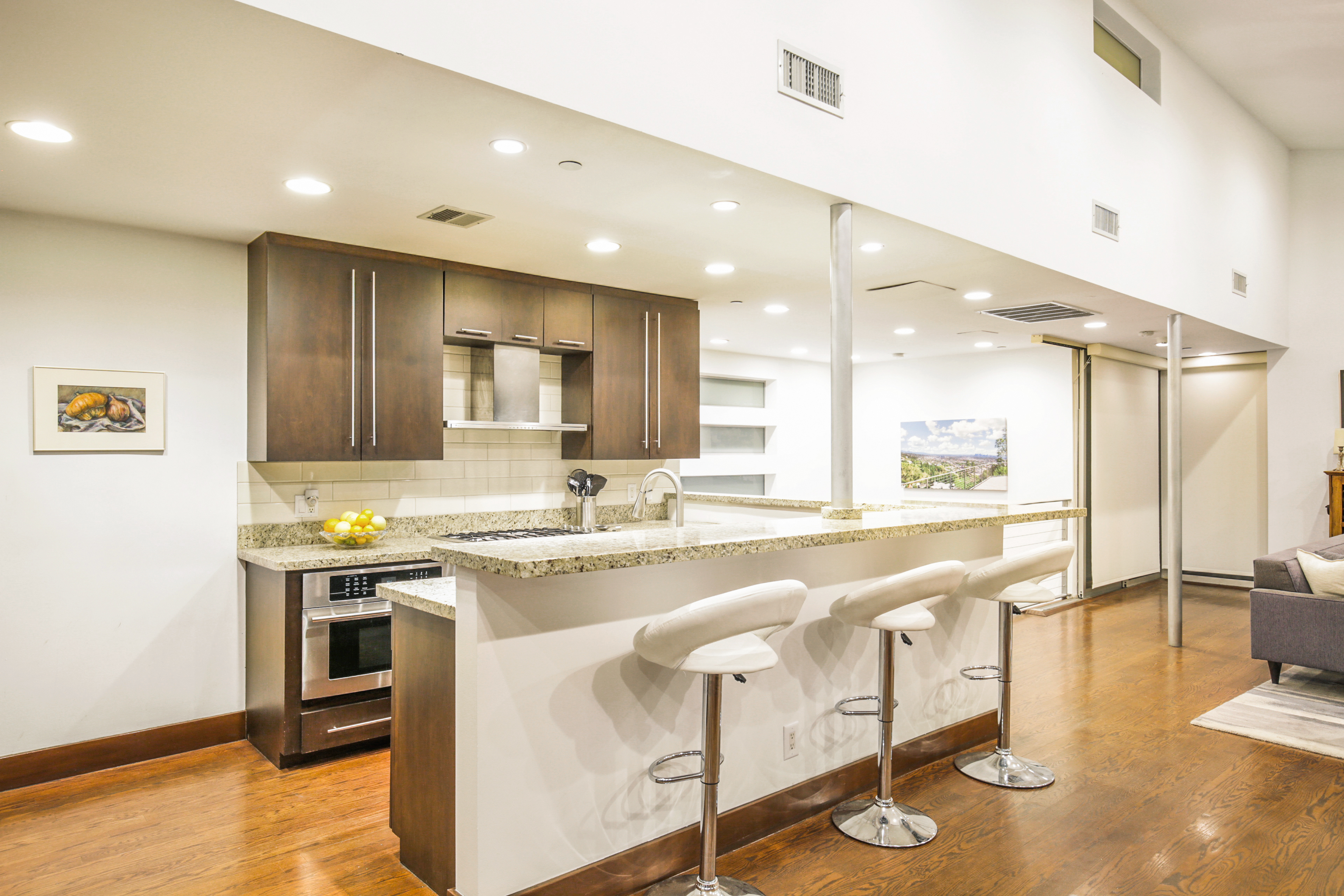 West Hollywood hills home with jetliner views of downtown, Griffith ...