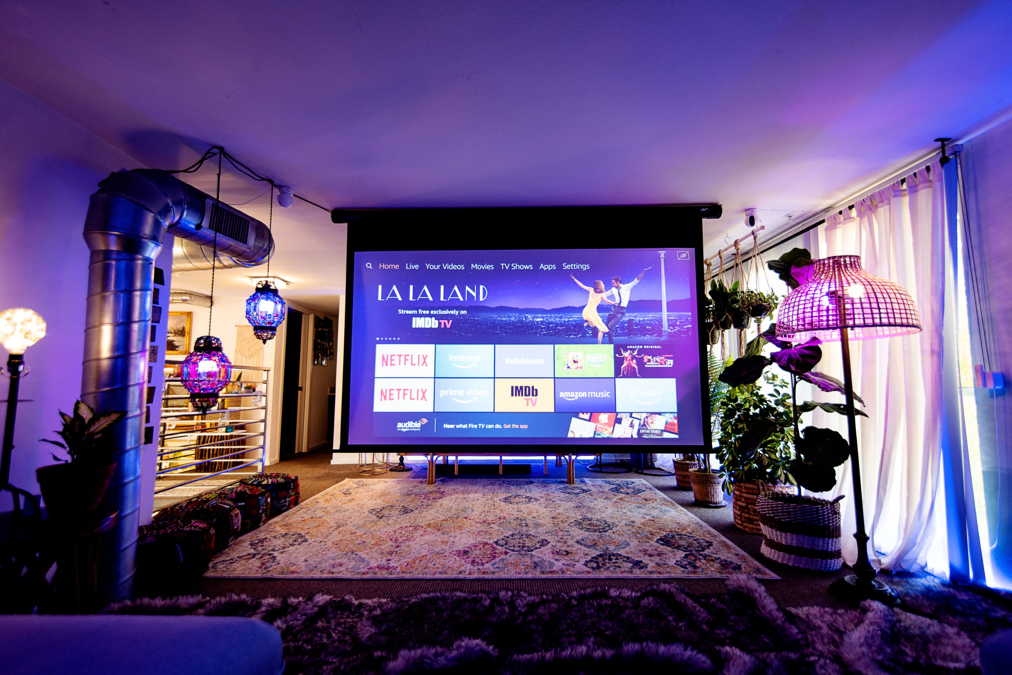 2300 sq ft luxury studio loft w/ natural light, patio, plants and foliage
