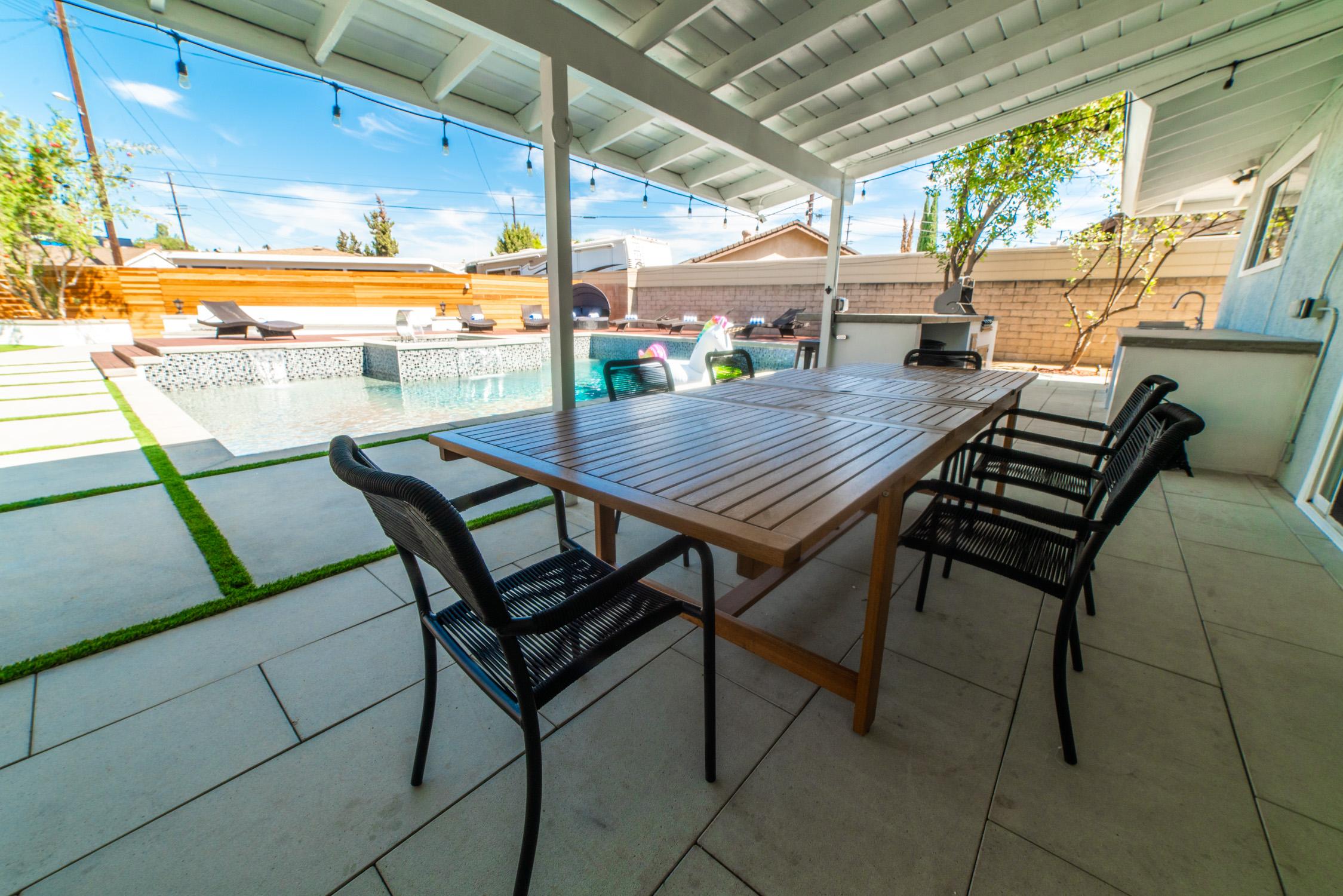 Backyard Paradise Resort Poolside Home Northridge Ca Production Peerspace