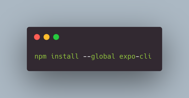 Command to Install Expo