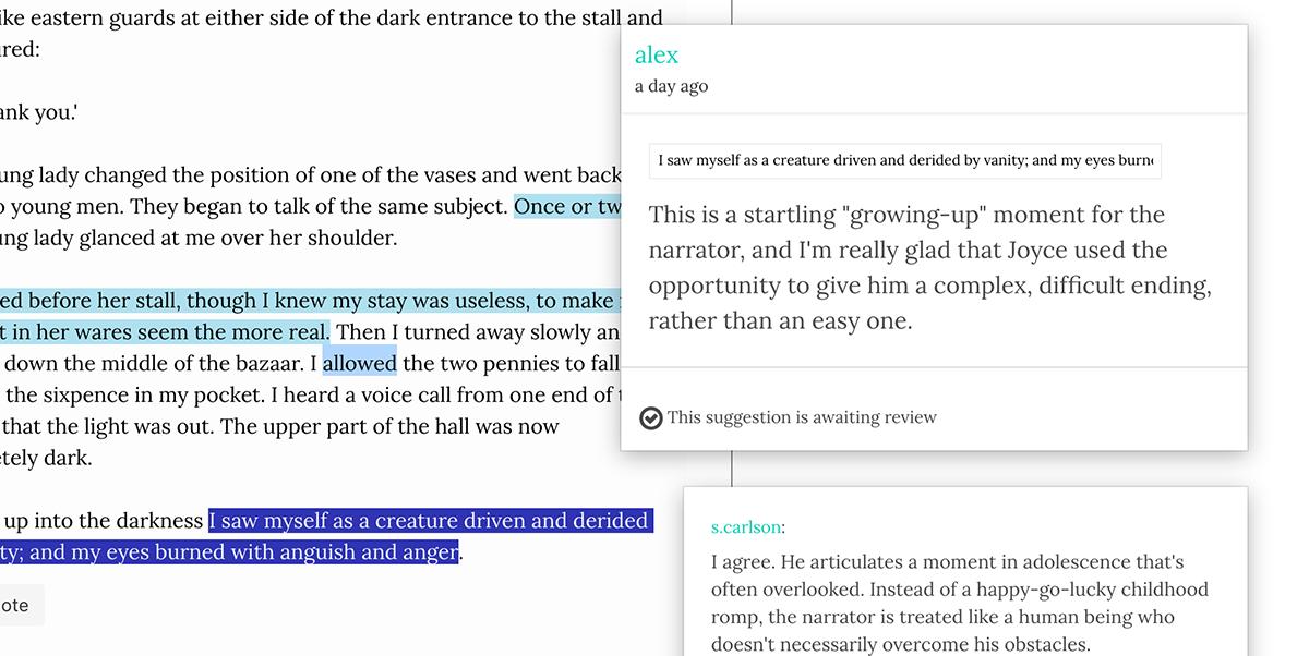 Editor activity screenshot