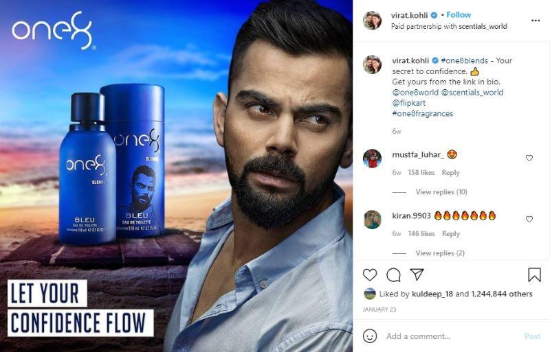 Indian Cricketer Virat Kohli Instagram