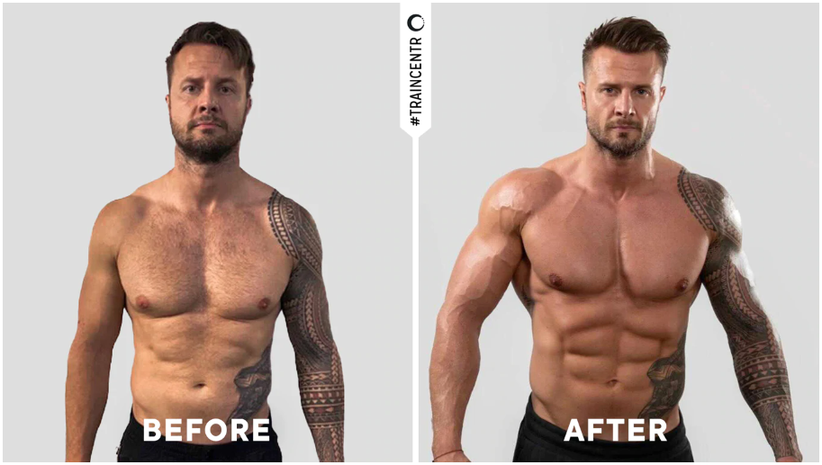 Before and after Chris Hemsworth's body double