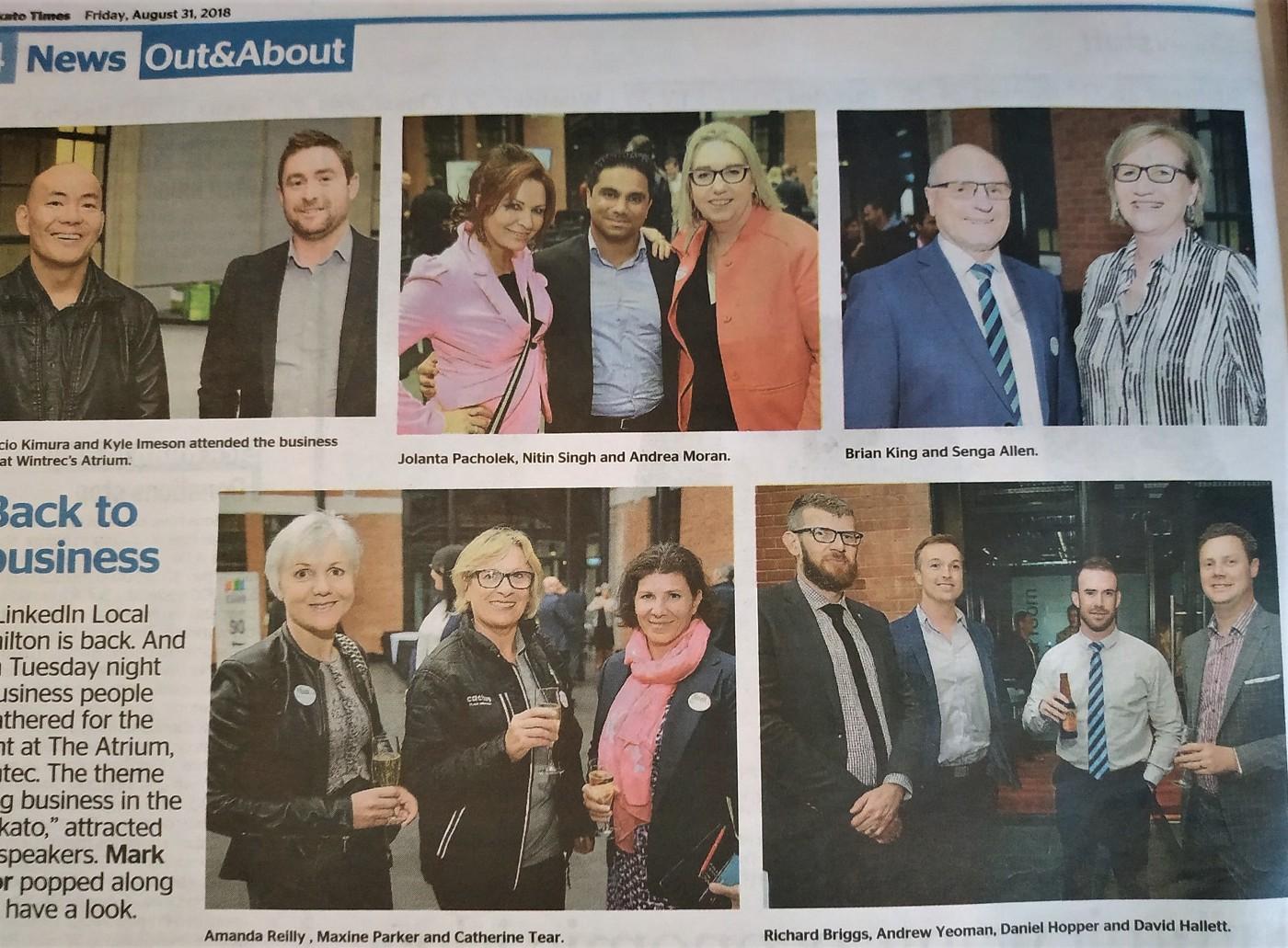 Linkedin local Hamilton in Waikato Times newspaper