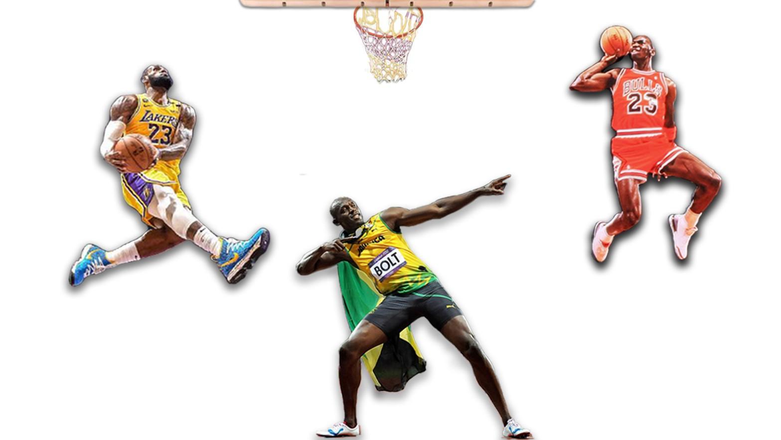 Lebron James, Michael Jordan, Usain Bolt. Are athletes more athletic?