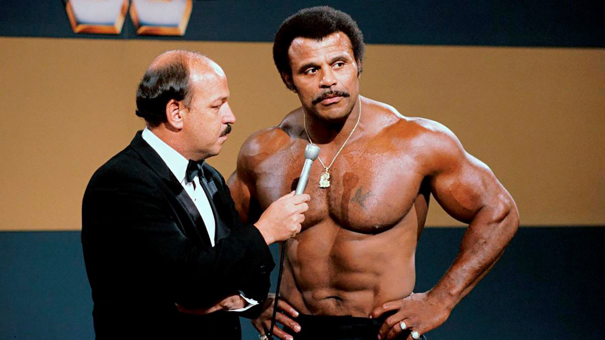 Dwayne Johnson's father Rocky Johnson, in the WWE