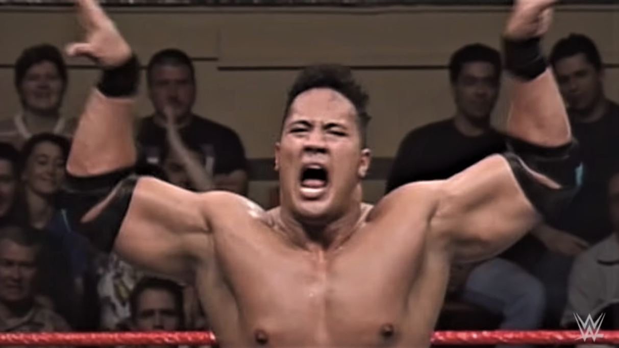 The Rock in his early WWE days
