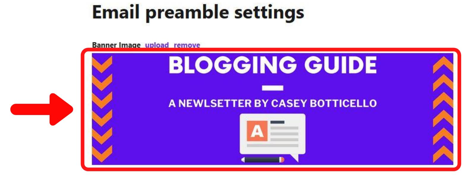 blogging guide banner, substack blogging guide, substack guide, substack email preamble banner, substack banner, substack